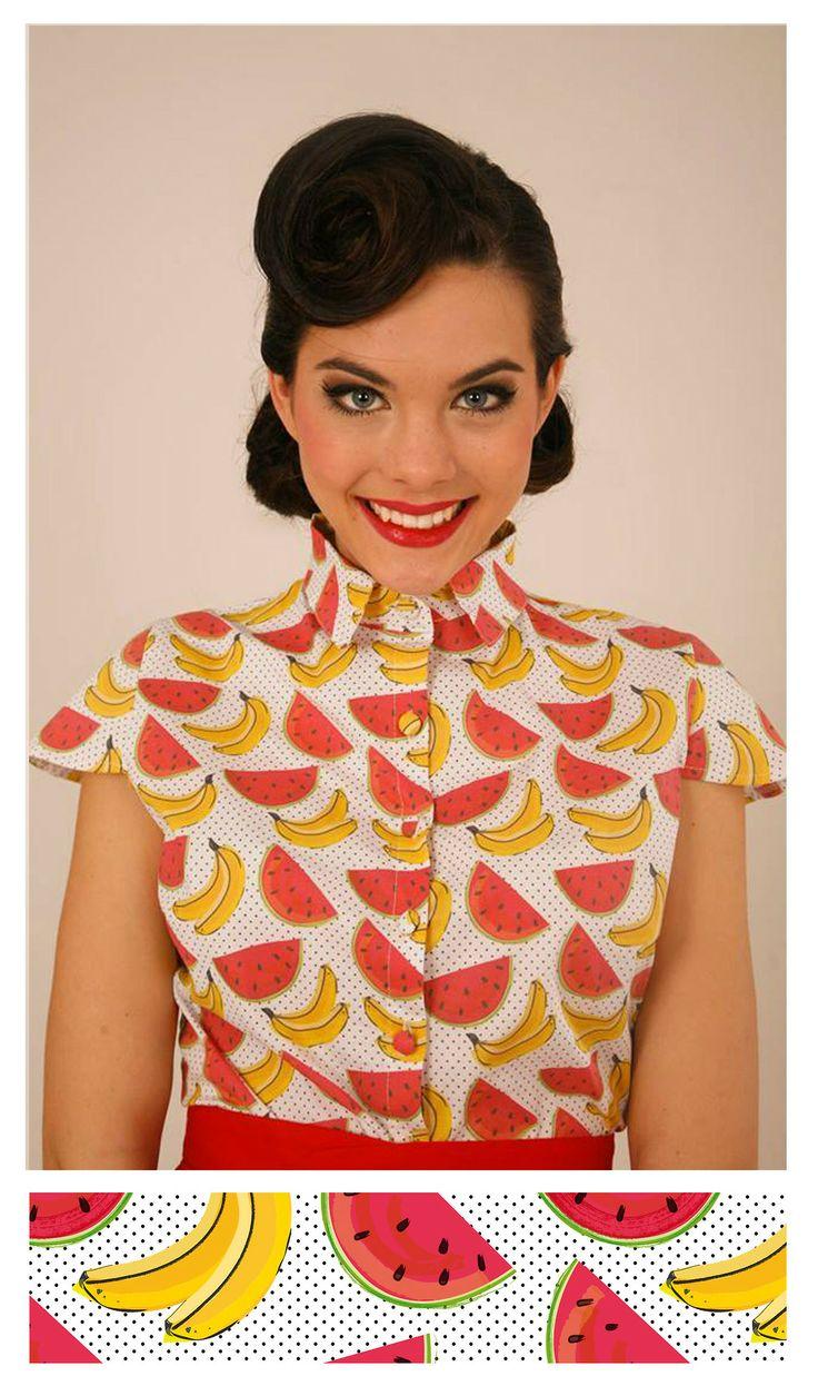 Diseño de estampado sandías y plátanos para la nueva colección de Lady Cacahuete. E M O C I Ó N · I N F I N I T A! www.alejandraconromero.com www.ladycacahuete.com