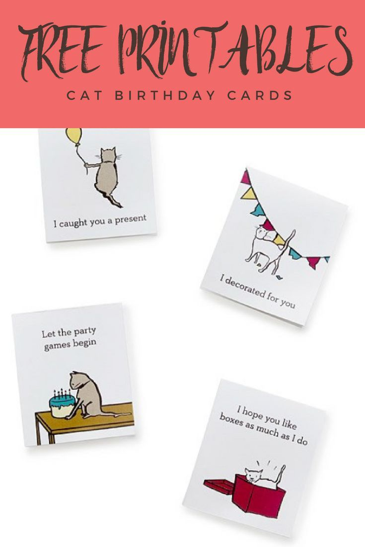 photograph regarding Free Printable Cat Birthday Cards identify Pin upon On the internet marketing and advertising