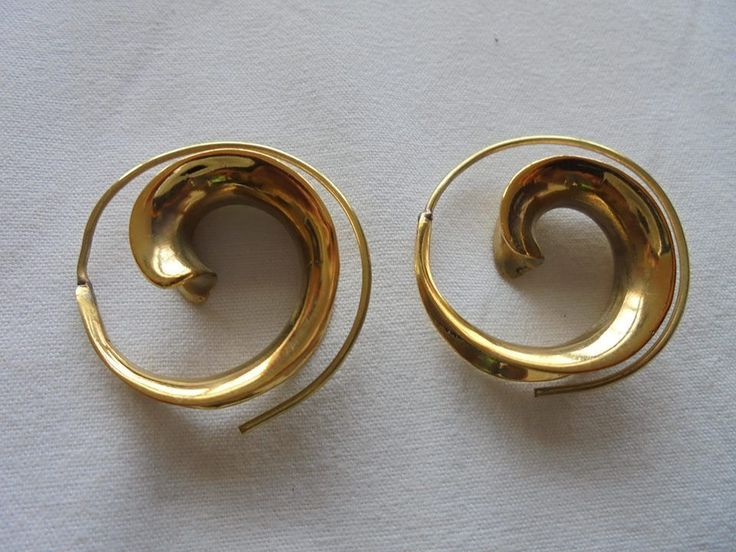 1 Paar Ohrringe aus Indien Spiralenform Schmuck Messing Hippie Goa Neu Psy Ohr | Uhren & Schmuck, Modeschmuck, Ohrschmuck | eBay!