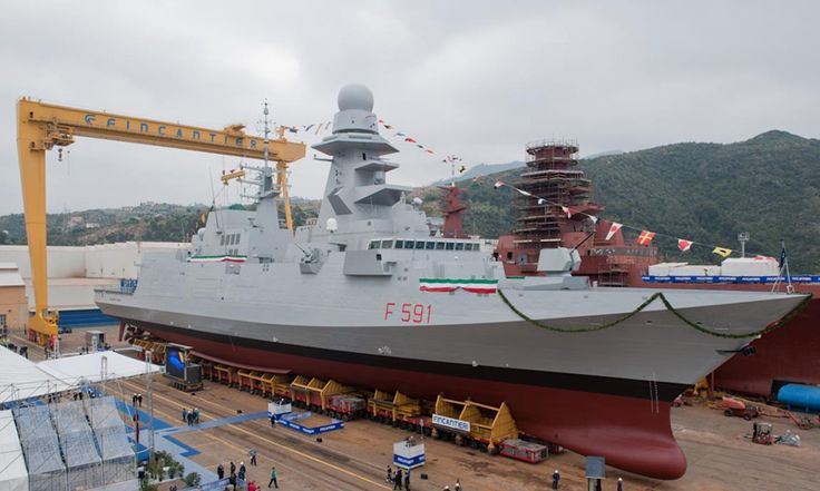 Virginio Fasan anti submarine frigate is a sister ship to the General Purpose FREMM class frigate ITS Bergamini and will be delivered to the Italian Navy in August 2013.