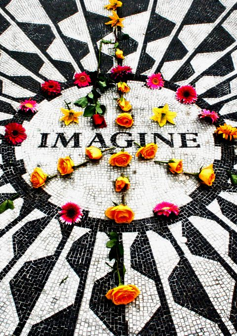 Strawberry Fields in Central Park, NYC