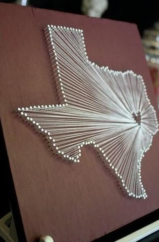 10 Map Projects That Take You To Uncharted Territory | Map Projects: String Art