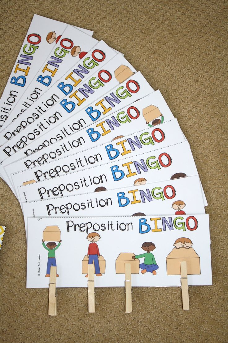 Preposition BINGO!  Great for learning positional words AND listening for details! $
