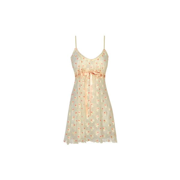 Lola - Babydoll - Claire Pettibone - Boutique ($140) ❤ liked on Polyvore featuring intimates, sleepwear, nightgowns, dresses, pajamas, lingerie, vestidos, baby doll sleepwear, baby doll nightgown and babydoll nightie