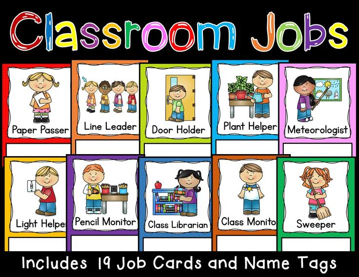 Classroom Job Cards Back to Back to school and Class jobs