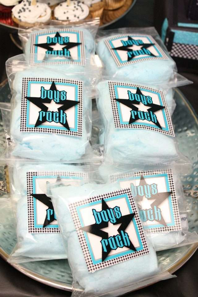 boys rock baby shower party ideas