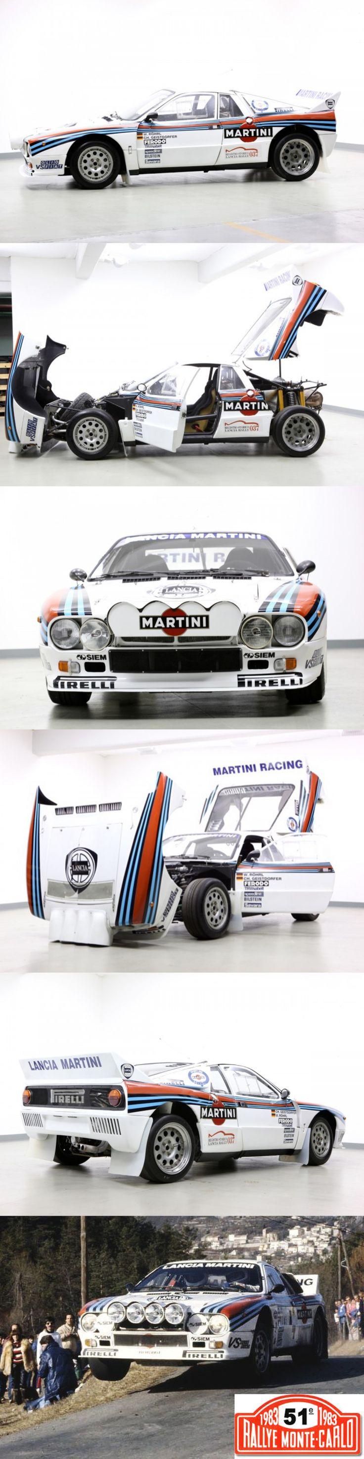 1983 Lancia 037 Rally Monte Carlo Winner / W. Röhrl - C. Geistdörfer / Abarth Pininfarina / Italy / livery / white blue red / 17-415