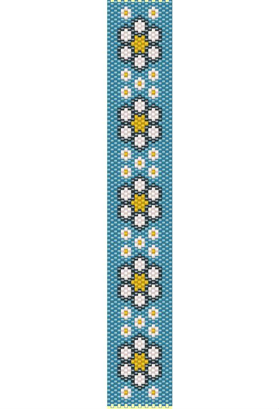 Daisy bracelet peyote pattern