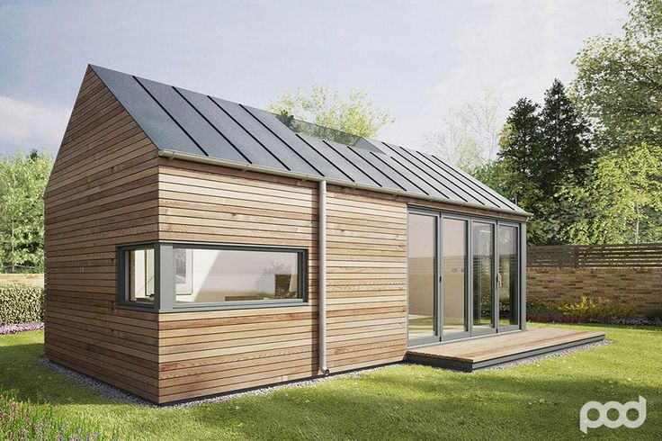 The Micro Pod, coming in at just 5 sq.m. in plan, would be an ideal writing studio or home office. Outside the horizontal wood cladding and deep reveals ...