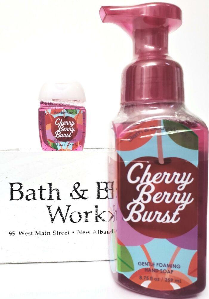 Bath And Body Works Pocketbac Hand Gel Black Cherry Merlot X2 Anti