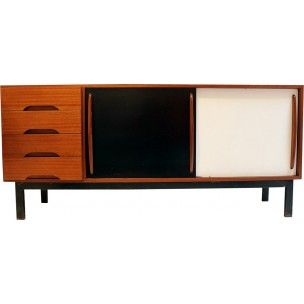 Sideboard with sliding doors and drawers, Charlotte PERRIAND - 1950s