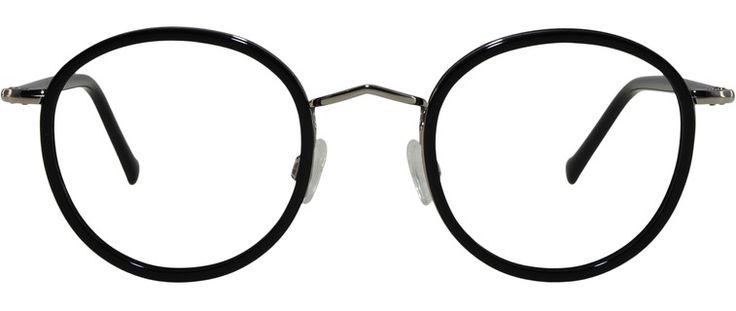 Photo de la monture de lunettes de vue Belleville Noir Et Argent