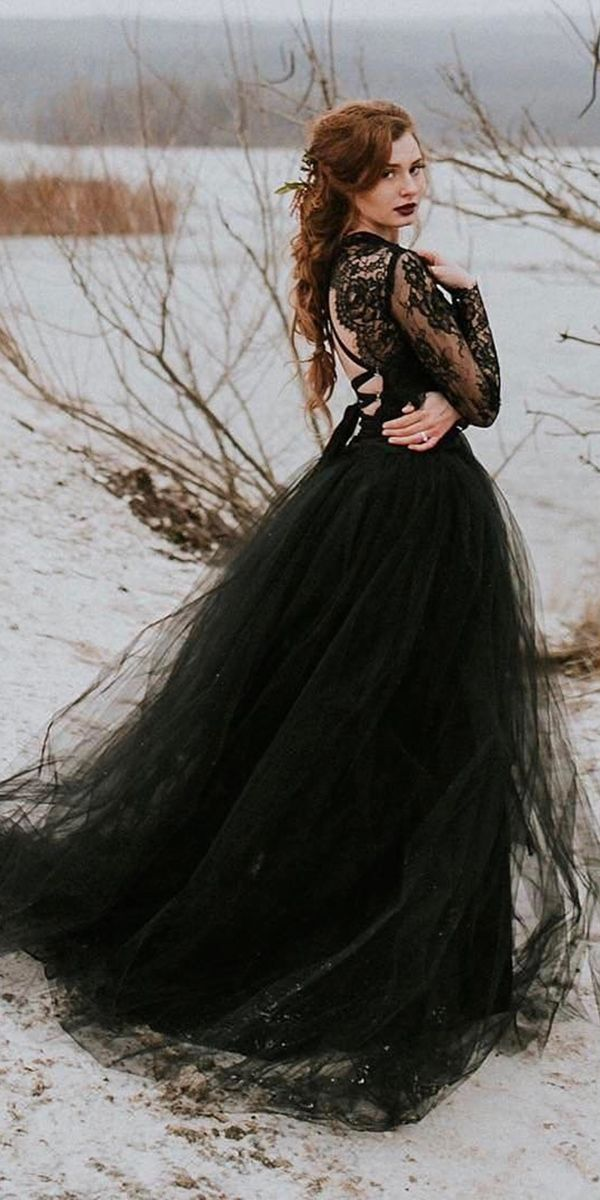 Dark Romance 24 Gothic Wedding Dresses Black Wedding Dresses