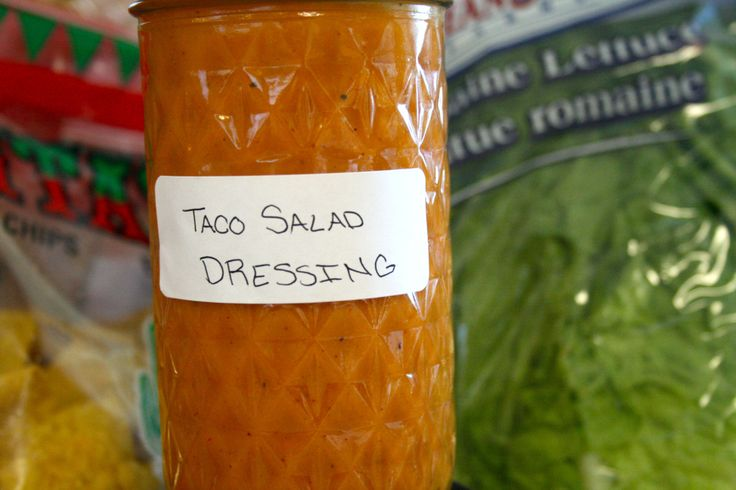 Homemade Taco Salad Dressing - this one's different from the one I've always made. I can't wait to try it. If someone says their grandmother makes something, I always try it out. They know their stuff!