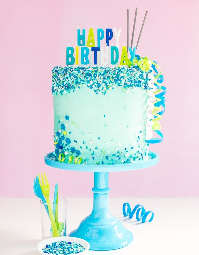 How To Add Sprinkles On The Sides Of Cakes Even Upside Down Cake Decorating Kits Buttercream Decorating Cake Show