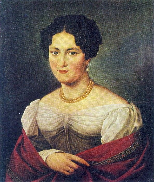 Орест Адамович Кипренский - Портрет неизвестной, 1820