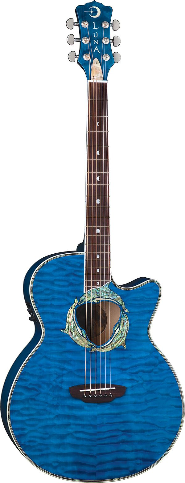 Luna Guitars - Fauna Dolphin acoustic electric