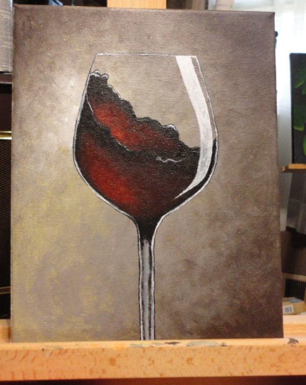 42 Simple Acrylic Canvas Painting Ideas For Beginners Wine