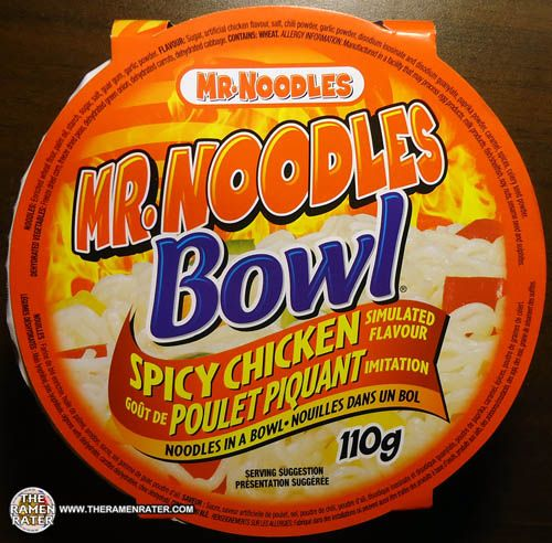 #1002: Mr. Noodles Bowl Spicy Chicken Simulated Flavour