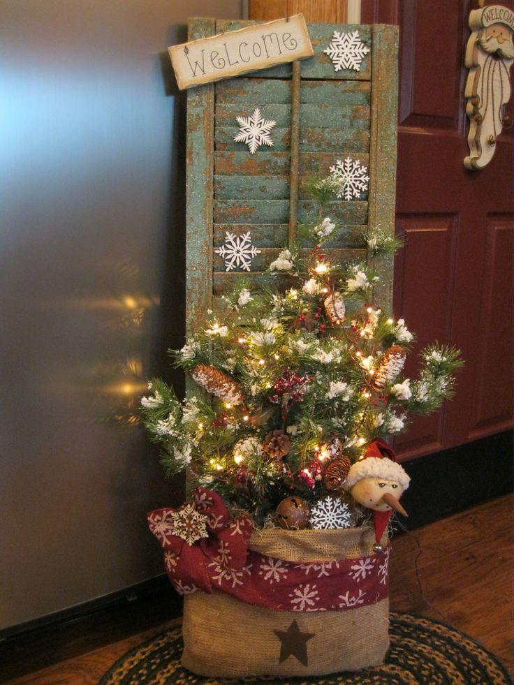 Christmas Shutter in a Burlap Bag