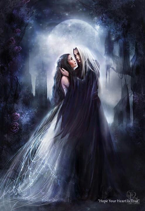 Gothic .couple. love. Goths. Fantasy
