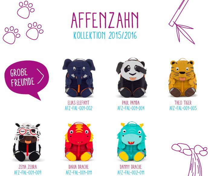 Affenzahn grosse Freunde Kollektion 2016