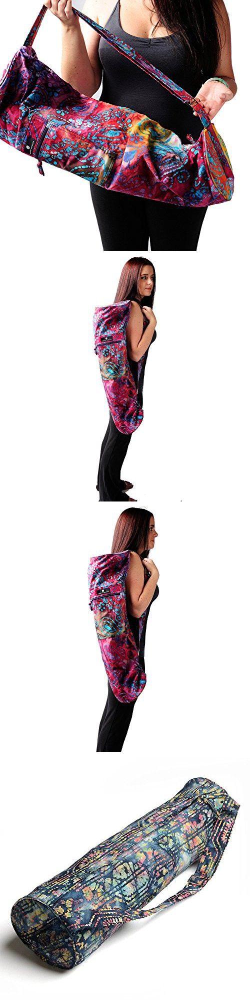 Hugger Mugger Batik Yoga Mat Bag, Blue