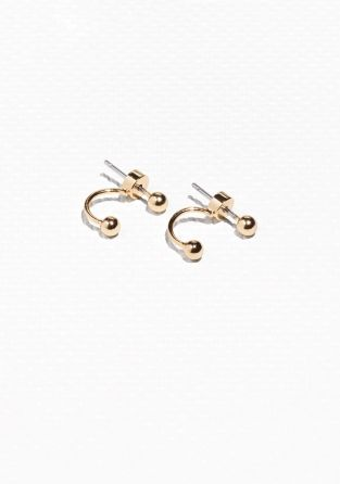 & Other Stories | Orb Drop Back Earrings