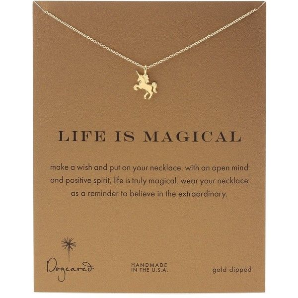 Dogeared Life is Magial Unicorn Reminder Necklace (Gold) Necklace ($58) ❤ liked on Polyvore featuring jewelry, necklaces, accessories, beauty, gold necklace, dogeared necklace, yellow gold necklace, gold chain pendant and unicorn necklaces