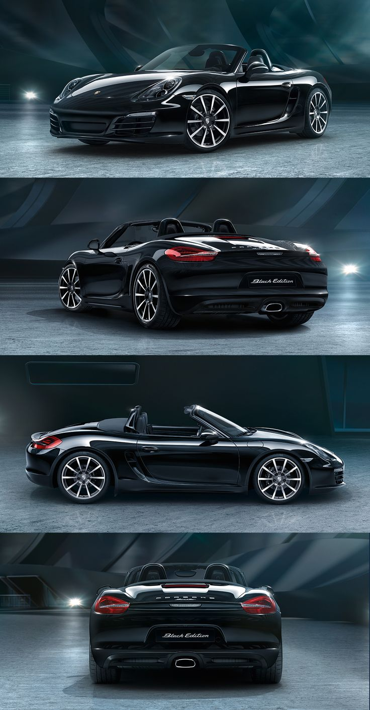 The new Boxster Black Edition. Devours looks, like bends. Learn more: http://link.porsche.com/black-edition-boxster-pin-gallery *Combined fuel consumption in accordance with EU 6: 8.4 -7.9 l/100 km; CO2 emissions 195-183 g/km #RePin by AT Social Media Marketing - Pinterest Marketing Specialists ATSocialMedia.co.uk
