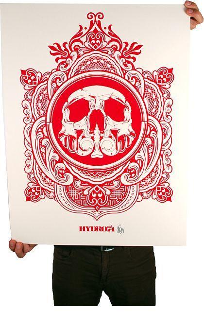 Hydro75 silk screen print