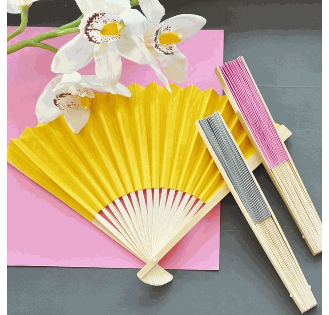 Colored Paper Wedding Fans