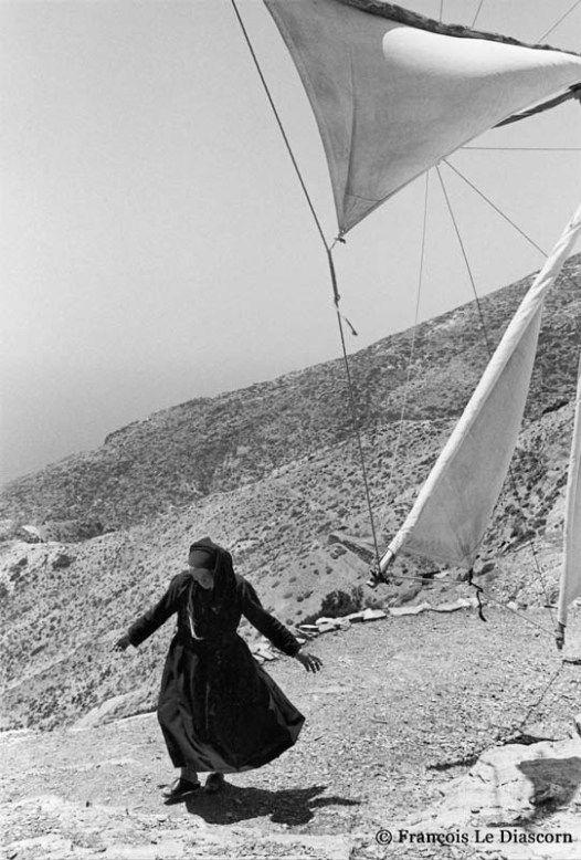 "François Le Diascorn.""A vanishing world in Karpathos Greece"".Working windmill  and miller in Olympos village. https://francoislediascorn-us.com/portfolios"
