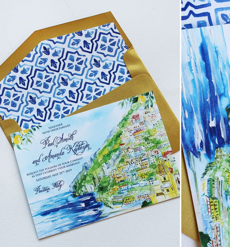 positano wedding invitation Google Search in 2020