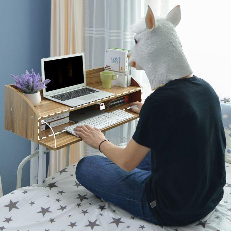 Estudiante creativo dormitorio mesa escritorio de la computadora de escritorio del ordenador portátil