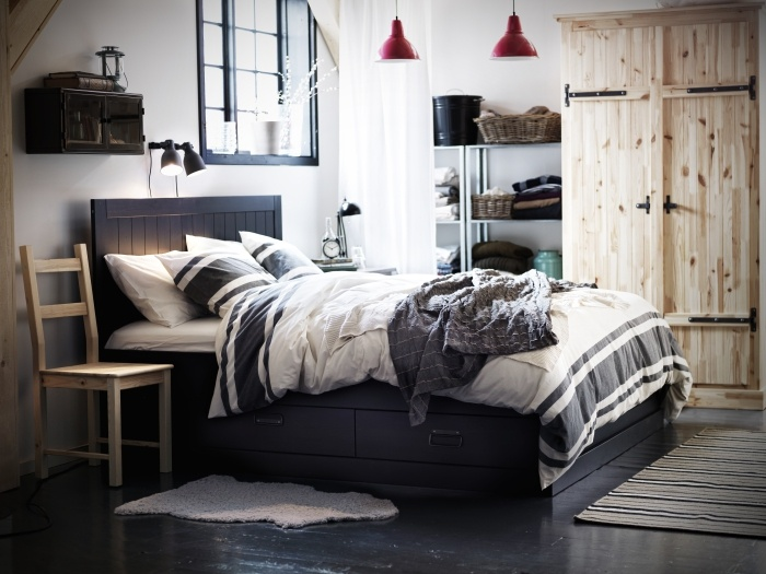 undredal wood storage so in love and comforter. Black Bedroom Furniture Sets. Home Design Ideas