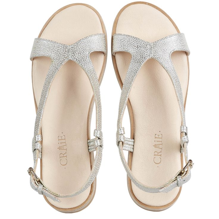 Chaussures Sandales Argentees Argent茅es Plates 3aqcjls4r5 Sidney PiTkuOZX