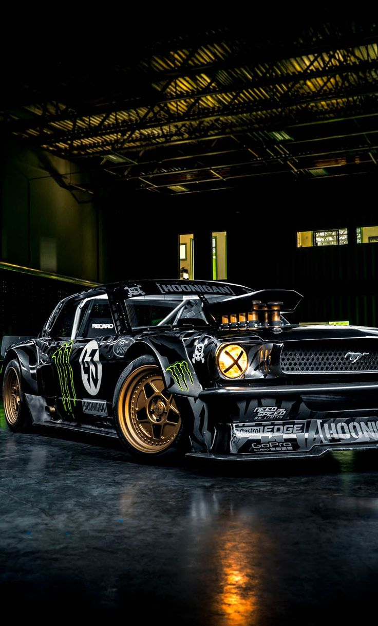 "h-o-t-cars:    Ken Block's 845 HP ""Hoonicorn"" 1965 Ford Mustang by Andrew Link"