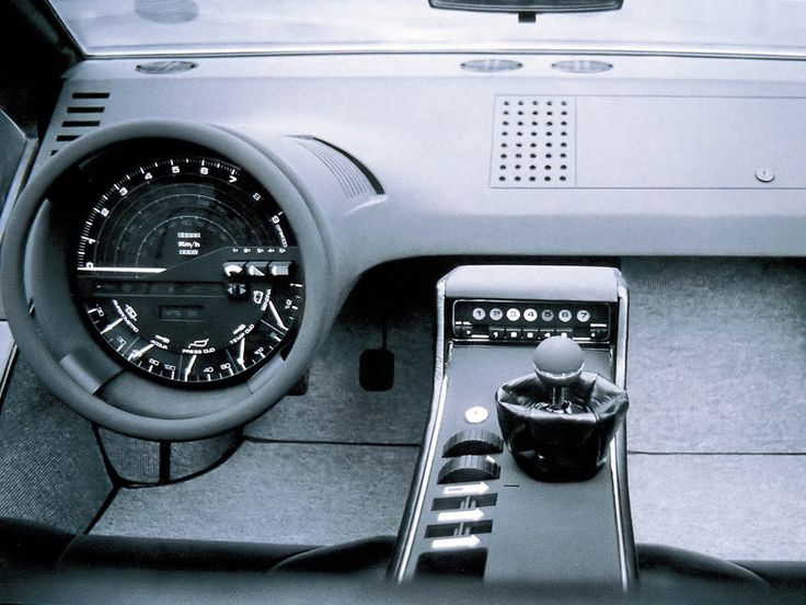 Maserati Boomerang - 1972 A dashboard IN the wheel