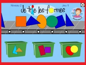 Vormen sorteren met kleuters op digibord of computer 2, kleuteridee / Shape Game for preschoolers in IWB or computer