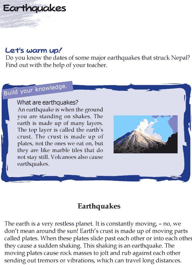 Grade 4 Reading Lesson 16 Nonfiction Earthquakes
