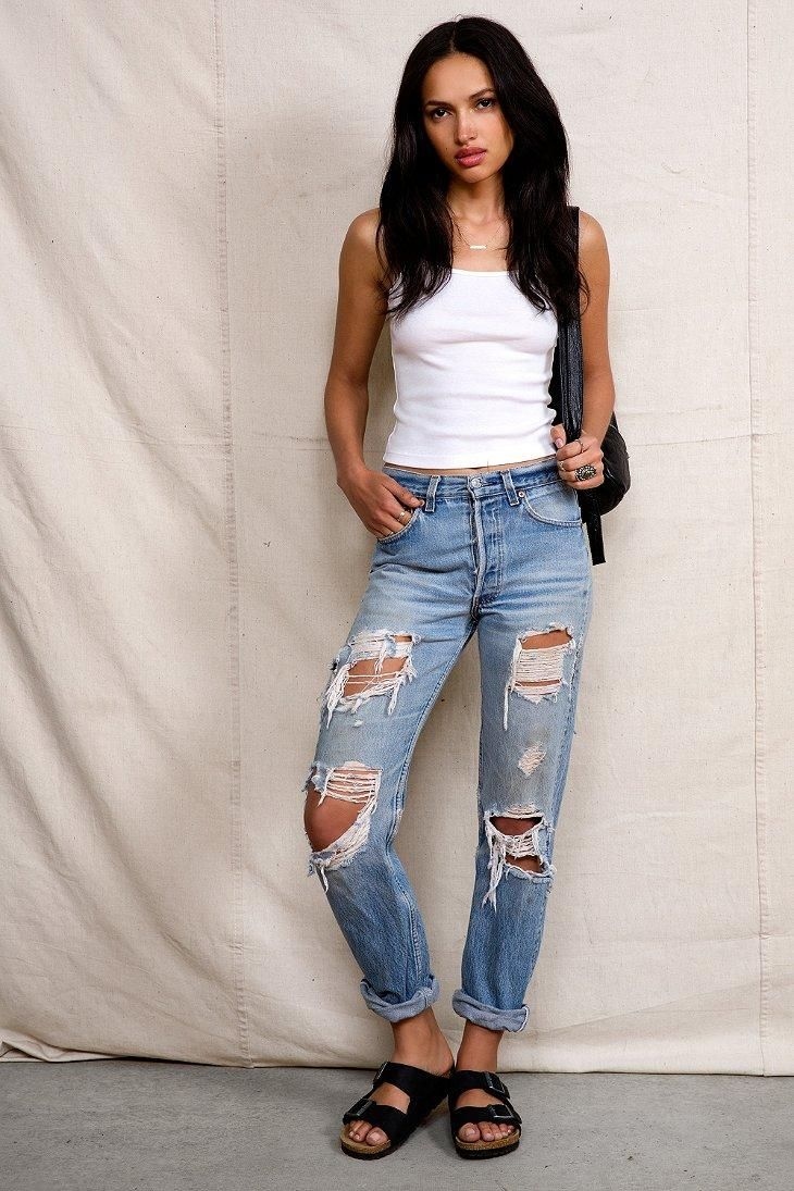 Urban Renewal Super-Destroyed Levi's Jean #urbanoutfitters