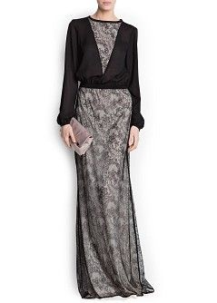 MANGO - CLOTHING - Dresses - Maxis - Combi lace gown