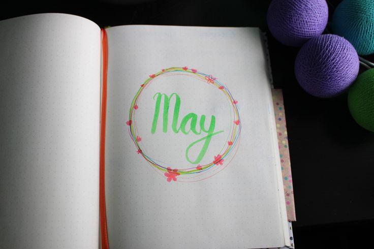Flip through: May. Bullet journal