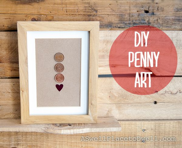 Easy DIY Penny Art. Use a penny with each of your birth years and the year you were married.