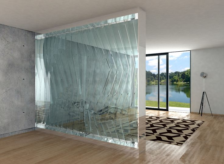 Gills -  wall made of crystal cut glass.