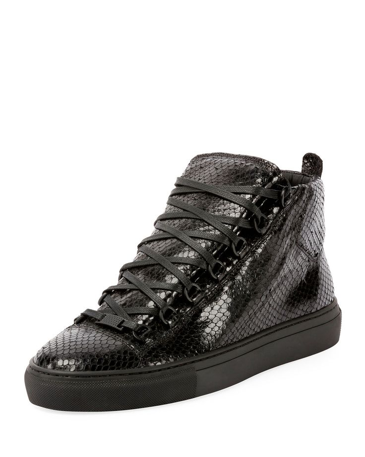 Men's Arena Faux-Python Leather High-Top Sneaker