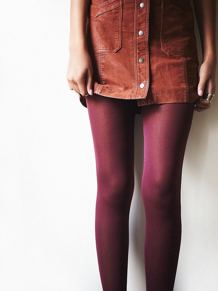 Red winter tights. Check out our tips on the best tights >>> http://bit.ly/1hAbTZS