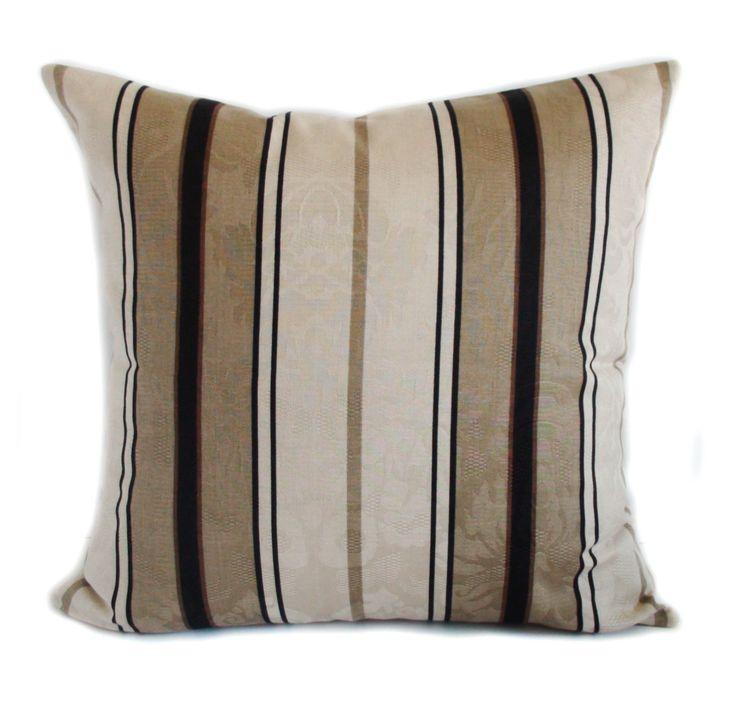 brown pillow covers throw pillows couch pillow sofa cushion stripe pillows shams 16x16 18x18 20x20 22x22 24x24 26x26