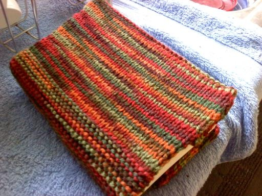 Knitting Pattern Book Cover : One Day at a Time: Knitted Book Cover Homemade Gifts Pinterest